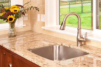 Kitchen Sink and granite countertop