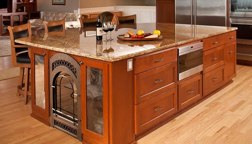 Spacious Granite Kitchen Island
